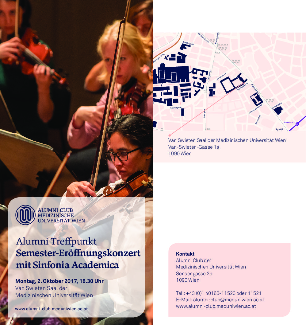 Semester opening concert with Sinfonia Academica